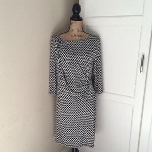 Calvin Klein black and white dress size 14